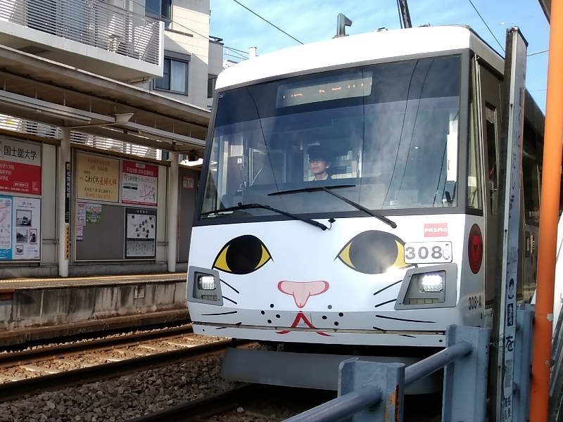 東急世田谷線ネコ電車